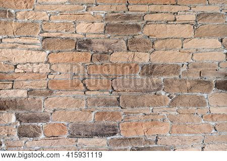 The Texture Of The Wall Is Lined With Clinker, Imitating The Masonry Of Old Baked Bricks