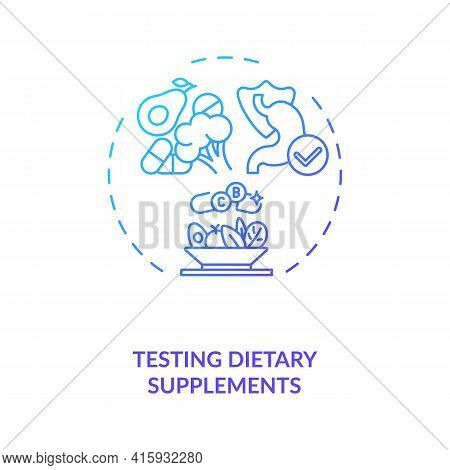 Testing Dietary Supplements Concept Icon. Clinical Trials Idea Thin Line Illustration. Vitamins, Min