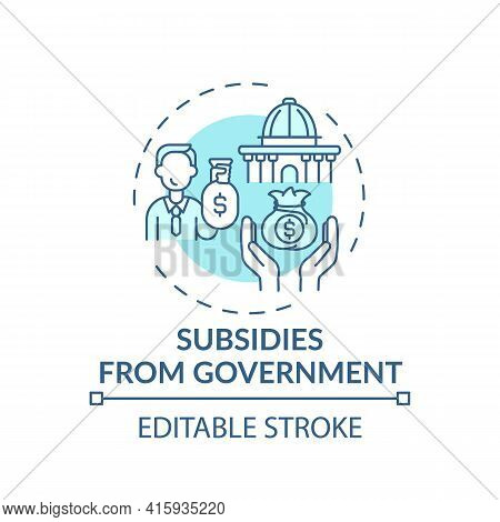 Government Subsidies Concept Icon. Anti-competitive Practice Idea Thin Line Illustration. Financial