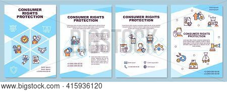 Consumer Rights Protection Brochure Template. Law Relationships. Flyer, Booklet, Leaflet Print, Cove