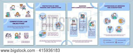 Competition Law Objectives Brochure Template. Protection Of Trading. Flyer, Booklet, Leaflet Print,