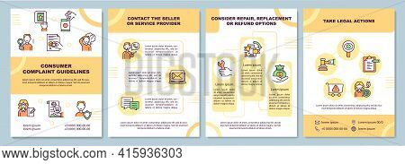 Consumer Complaint Guidelines Brochure Template. Contact Seller. Flyer, Booklet, Leaflet Print, Cove