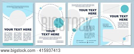 Modern Cyan Brochure Template. Flyer, Booklet, Leaflet Print, Cover Design With Copy Space. Colorful