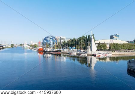 Kaliningrad, Russia, August 16, 2020. Museum Display Ship. An Exhibit Of The. Embankment Of The Mari