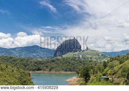 Lakes And The Piedra El Penol At Guatape In Antioquia, Colombia