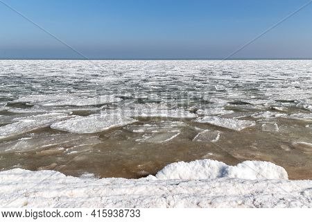 This Is Ice Sludge In Azov, Formed Due To Unusually Strong Frosts In This Region.