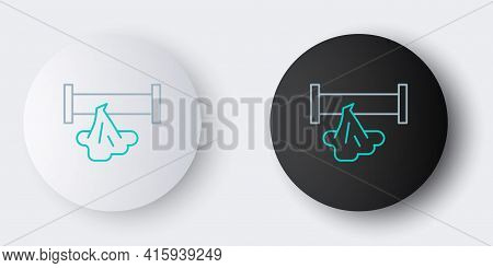 Line Broken Metal Pipe With Leaking Water Icon Isolated On Grey Background. Colorful Outline Concept