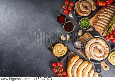 Assortment Different Fried Sausages