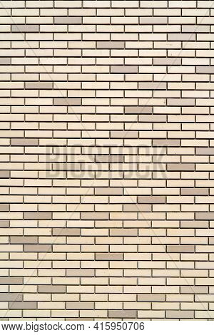 Beige Brick Building Wall. Interior Of A Modern Loft. Background For Design.