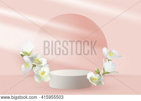 Jasmine Branch Vernal Flower White Bush Blossom
