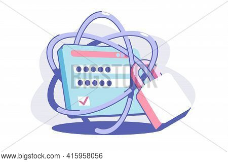 Solid Web Security Vector Illustration. Personal Data