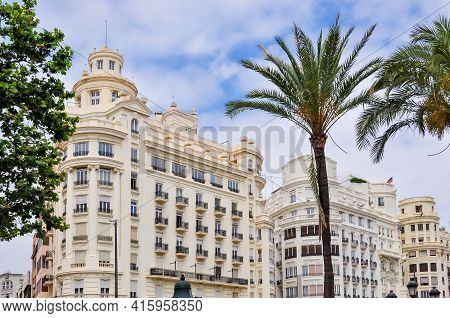 Traditional Architecture In Center Of Valencia, Spain