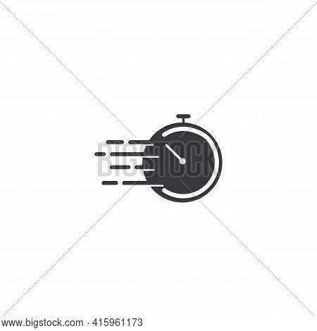 Fast Time Icon Logo Design Vector