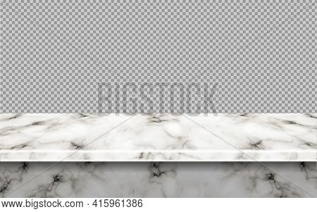 White Marble Table Mockup Top, For Display Or Montage Your Products.