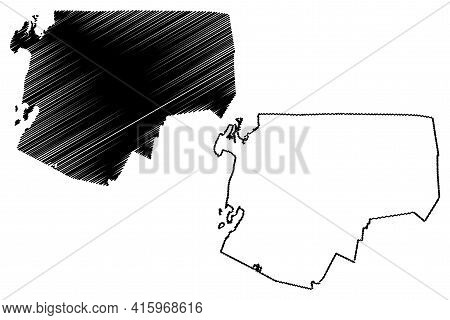 Franklin County, State Of Vermont (u.s. County, United States Of America, Usa, U.s., Us) Map Vector