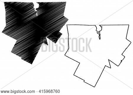 Orleans County, State Of Vermont (u.s. County, United States Of America, Usa, U.s., Us) Map Vector I