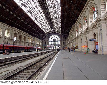 Budapest, Hungary - 12 Jun 2011: The Train Station In Budapest, Hungary