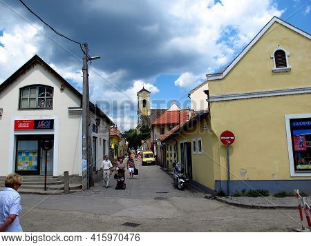 Szentendre, Hungary - 13 Jun 2011: The Street In Szentendre Town In Hungary Country
