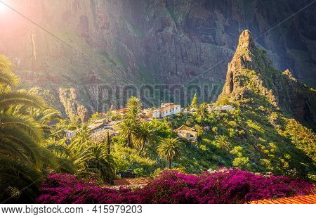 Masca Village, The Most Visited Tourist Attraction Of Tenerife, Spain