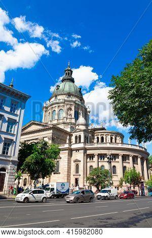 Budapest, Hungary - September 13, 2019: St. Stephens Basilica In Budapest, Hungary