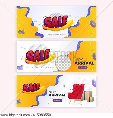 3 Sale Offer Editable Banner Vector Template, Sale Vector Banner Set 1