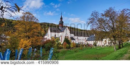 Monastery Ebersbach In Autumn