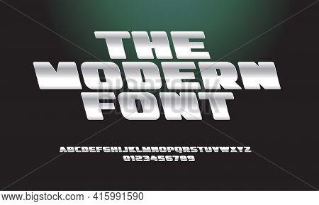 Aluminium Alphabet Reversive Italic Bold Letters. Reverse Tilt Font Metallic Texture. Modern Type Fo