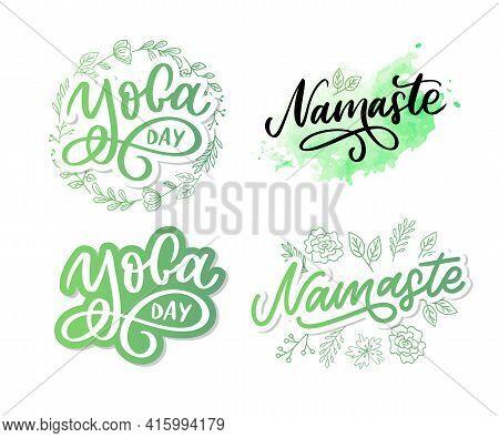Hand Drawn Namaste Lettering. Indian Greeting, Hello In Hindi. Stylish Cursive Handwriting, Modern C