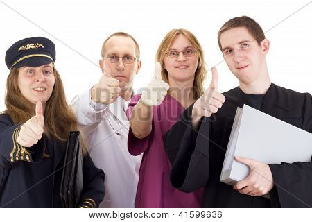 Four Professional People