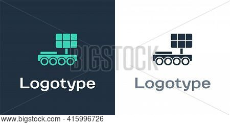 Logotype Mars Rover Icon Isolated On White Background. Space Rover. Moonwalker Sign. Apparatus For S