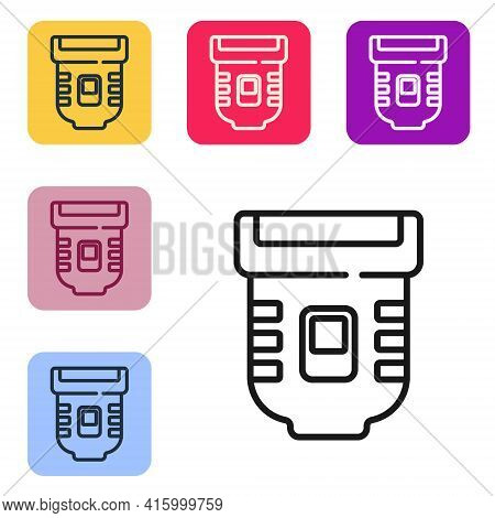 Black Line Epilator Icon Isolated On White Background. Depilation By Electric Razor. Hair Removal On
