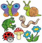 Small animals collection 2 on white background - vector illustration. poster