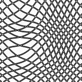 transparent black fishing net on white background poster