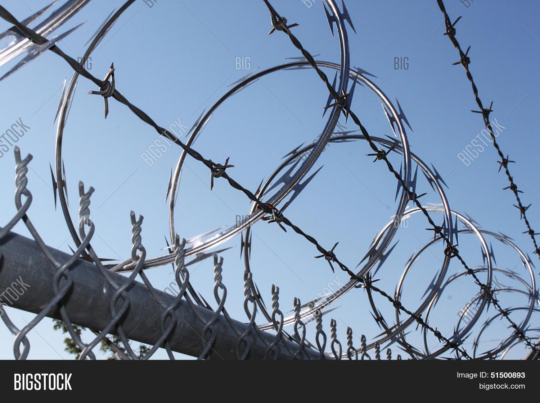Sharp Razor Wire Image & Photo (Free Trial) | Bigstock