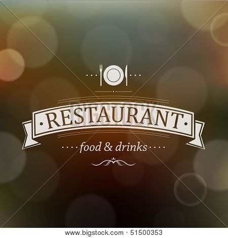 Retro Restaurant Menu, With Gradient Mesh, Vector Illustration