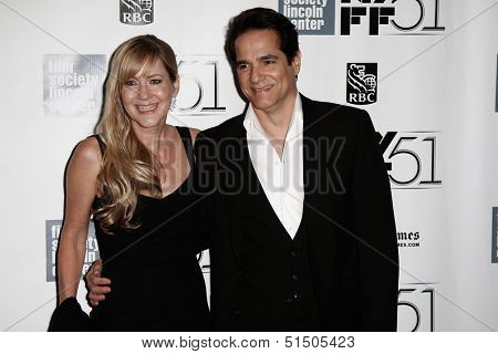 NEW YORK-SEP 27: Actor Yul Vasquez and guest attend the premiere of