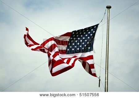 Flag of the United States, flying in the wind