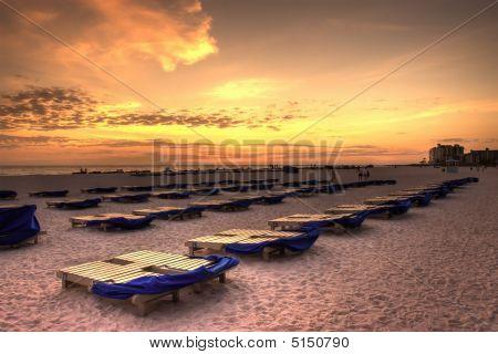 Beach Chair Sunset