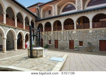 Monastery Kykkos In Cyprus, Troodos Mountains.