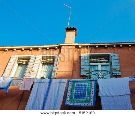 Wall With Laundry In Venice