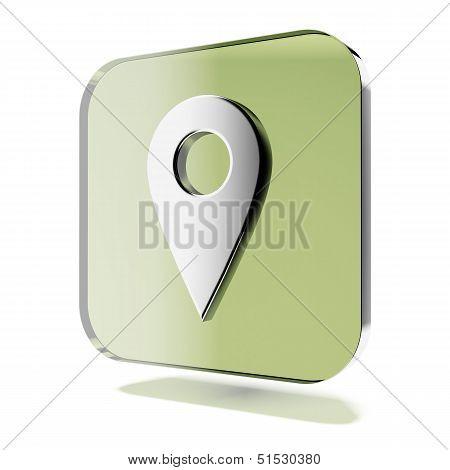 Geo tag travel icon