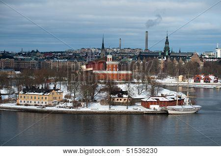 The Brig Tre Kronor Af Stockholm In Winter