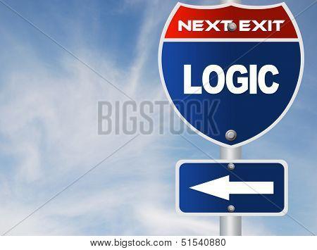 Logic road sign