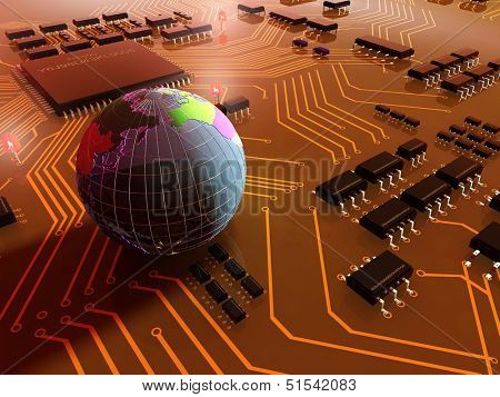 The model of the globe on a chip.