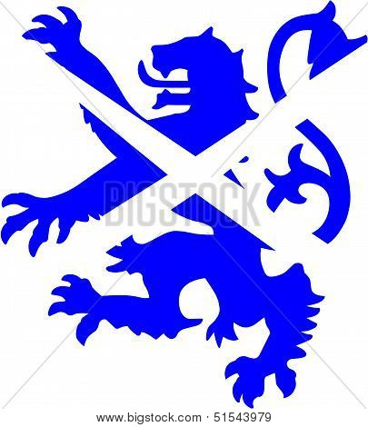 Scottish Lion And Saltire