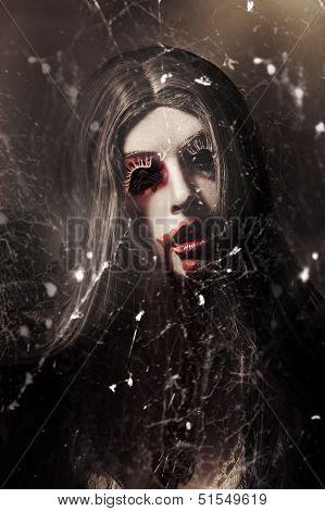 Female Face Of Dark Horror