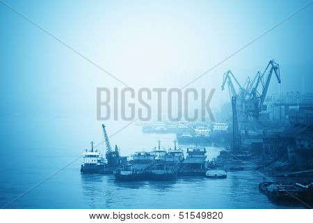 Inland Port In Yangtze River