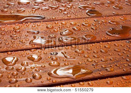 Summer Rain On Deck