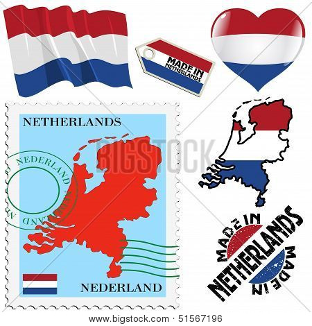 National Colours Of Netherlands