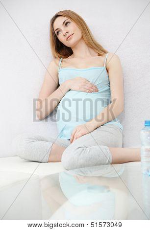 Pregnant Yoga Woman